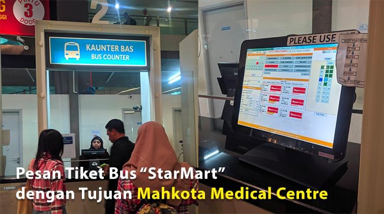 Bus Counter Klia2 untuk ke mahkota medical centre