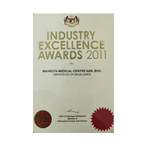 Recipient of Certificate of Industry Excellence Award 2011