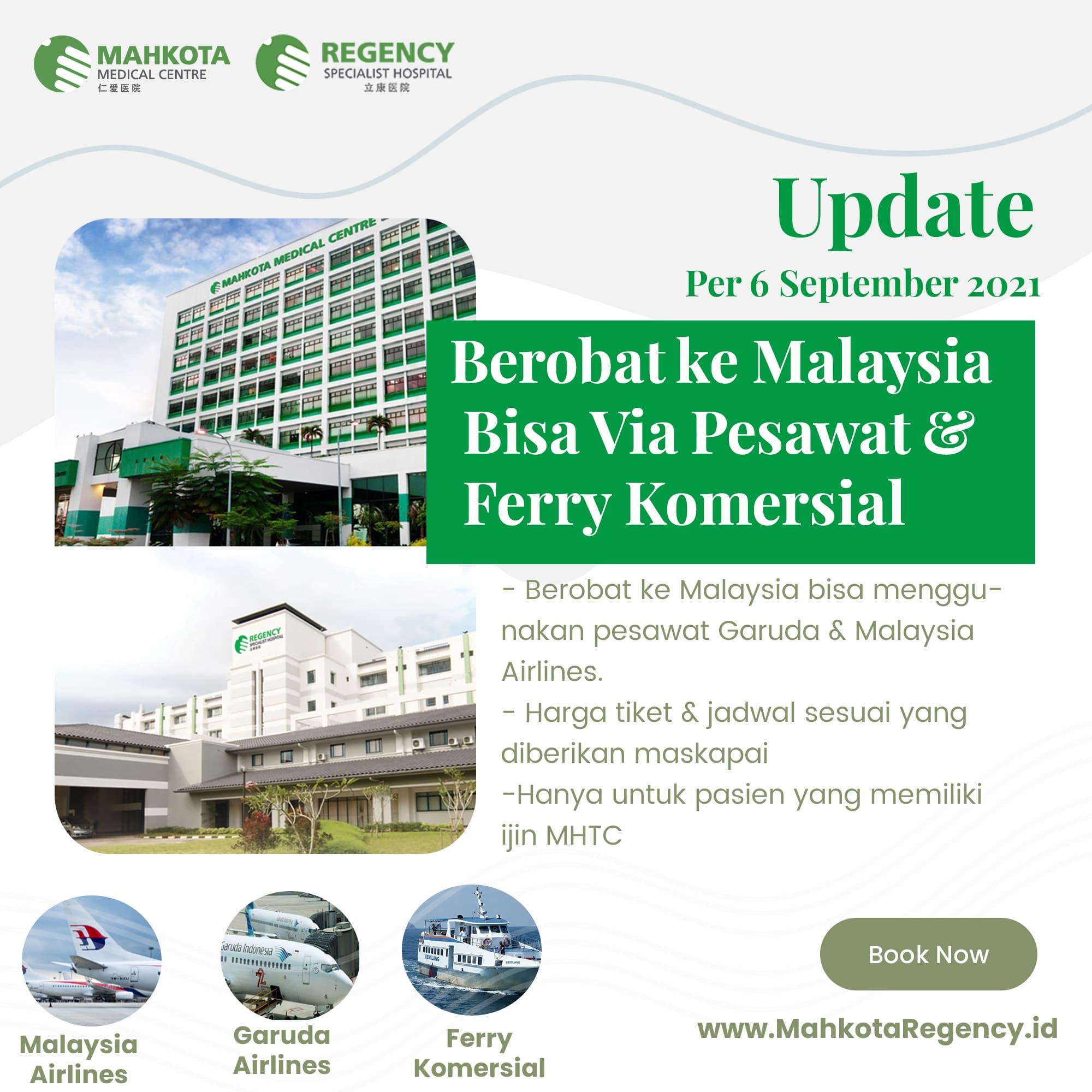 Read more about the article Berobat Ke Malaysia Selama Pandemi Bisa Via Pesawat Komersial