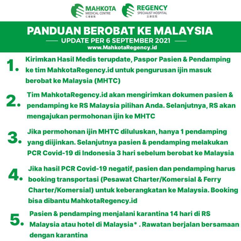 Panduan Berobat Ke Malaysia 2021 Update Per 6 September 2021