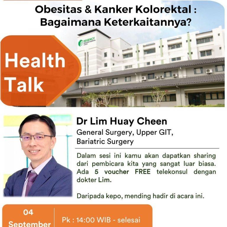 Read more about the article Webinar Hospital Malaysia : Obesitas & Kanker Kolorektal, Bagaimana Keterkaitannya?