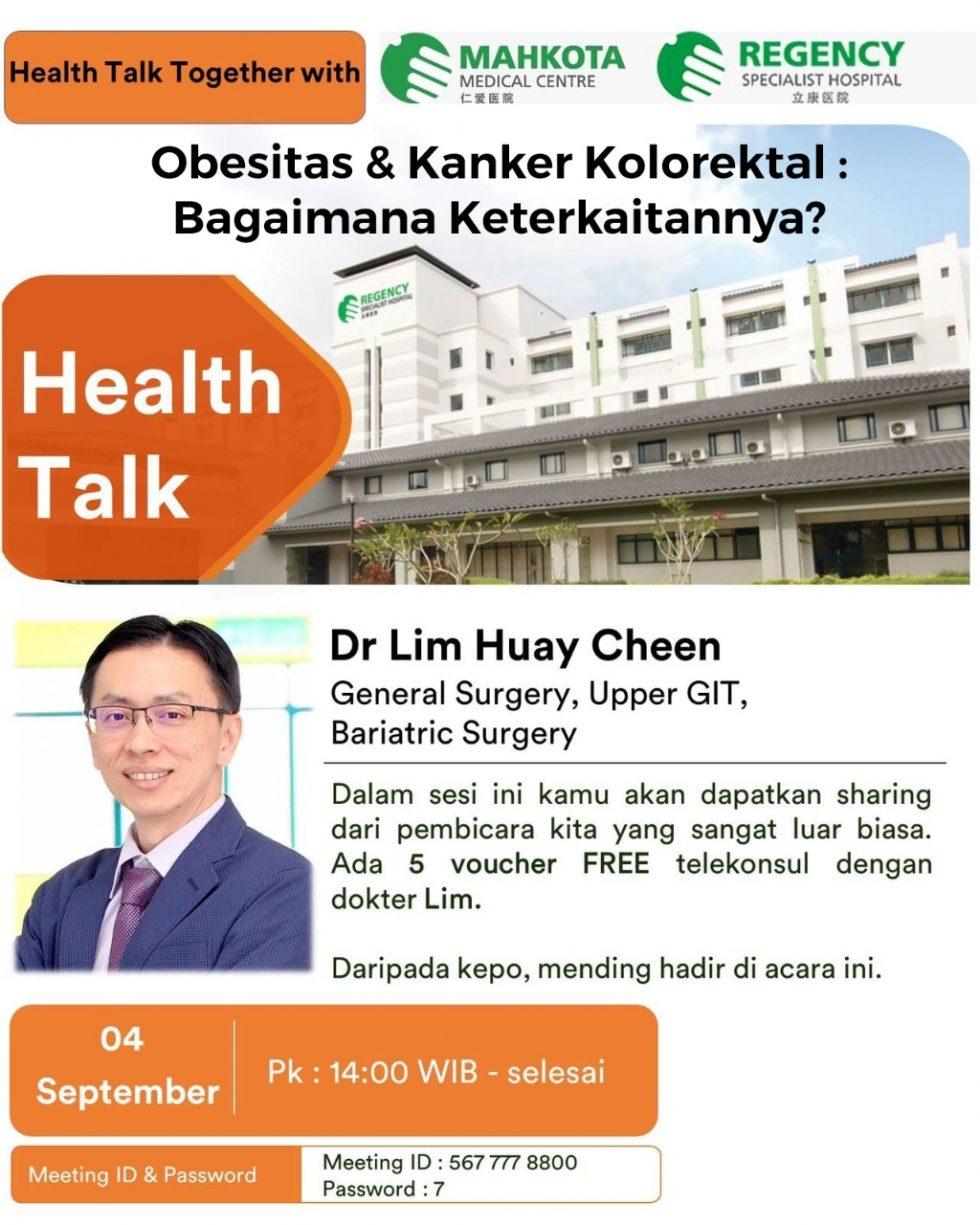 Webinar Hospital Malaysia : Obesitas & Kanker Kolorektal, Bagaimana Keterkaitannya?